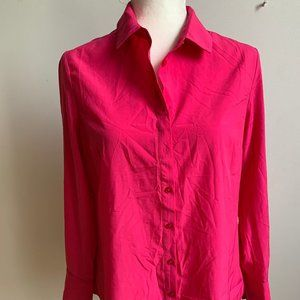 RW & co. BNWT pink long sleeve top blouse sz M